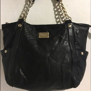 Michael kors Black leather tote handbag